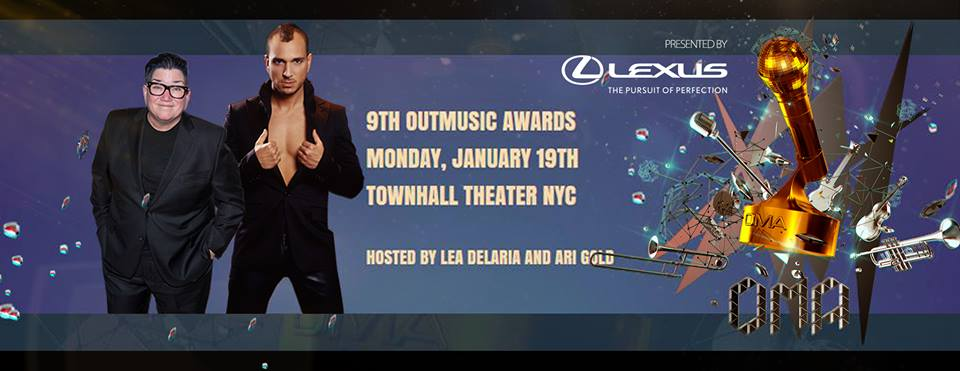 9th OutMusic Awards LGBT Gay Lesbian Music Banner