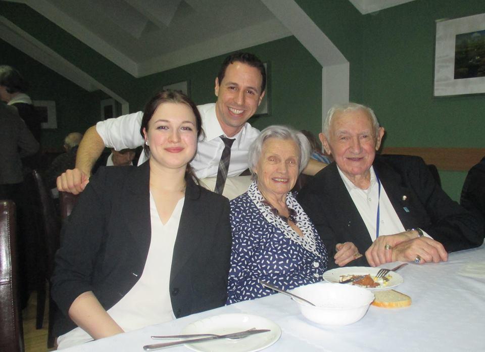 Avi, David, Alina, Ewa Auschwitz 70 Event