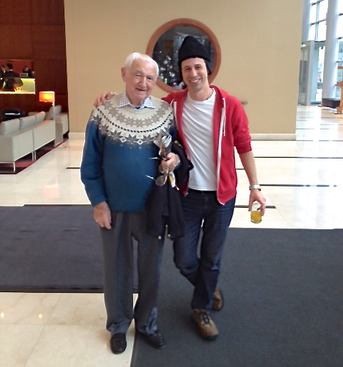David and Avi Wisnia in Warsaw