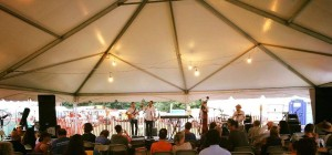 Avi Wisnia & band at Philadelphia Folk Festival 2016