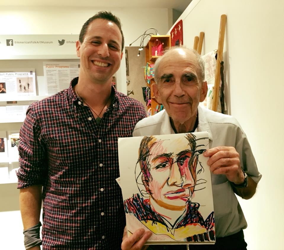 Avi Wisnia and Benedict Pensato at American Folk Art Museum