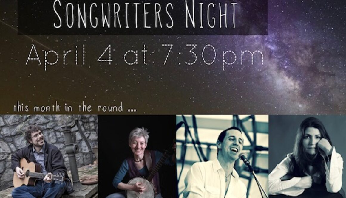 Songwriters Night Living Room Ardmore Promo img APRIL lineup