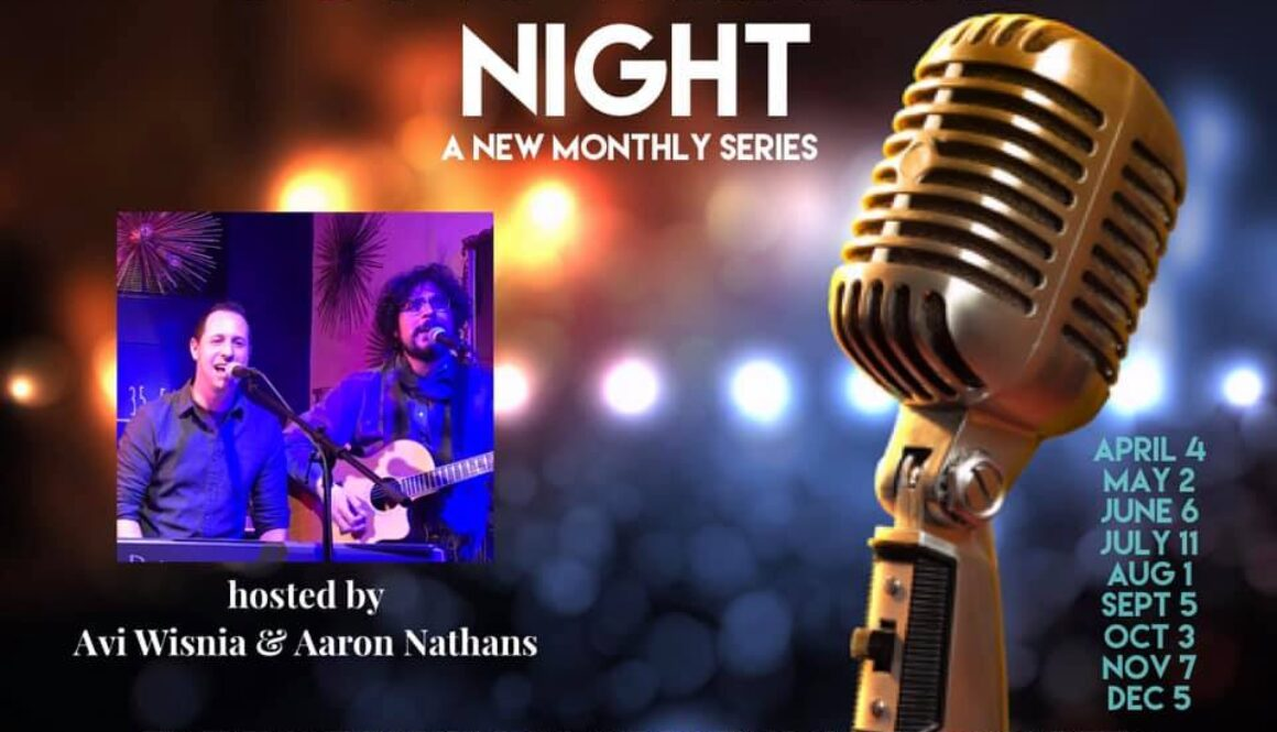 Songwriters Night monthly flyer at Living Room Ardmore PA 2019