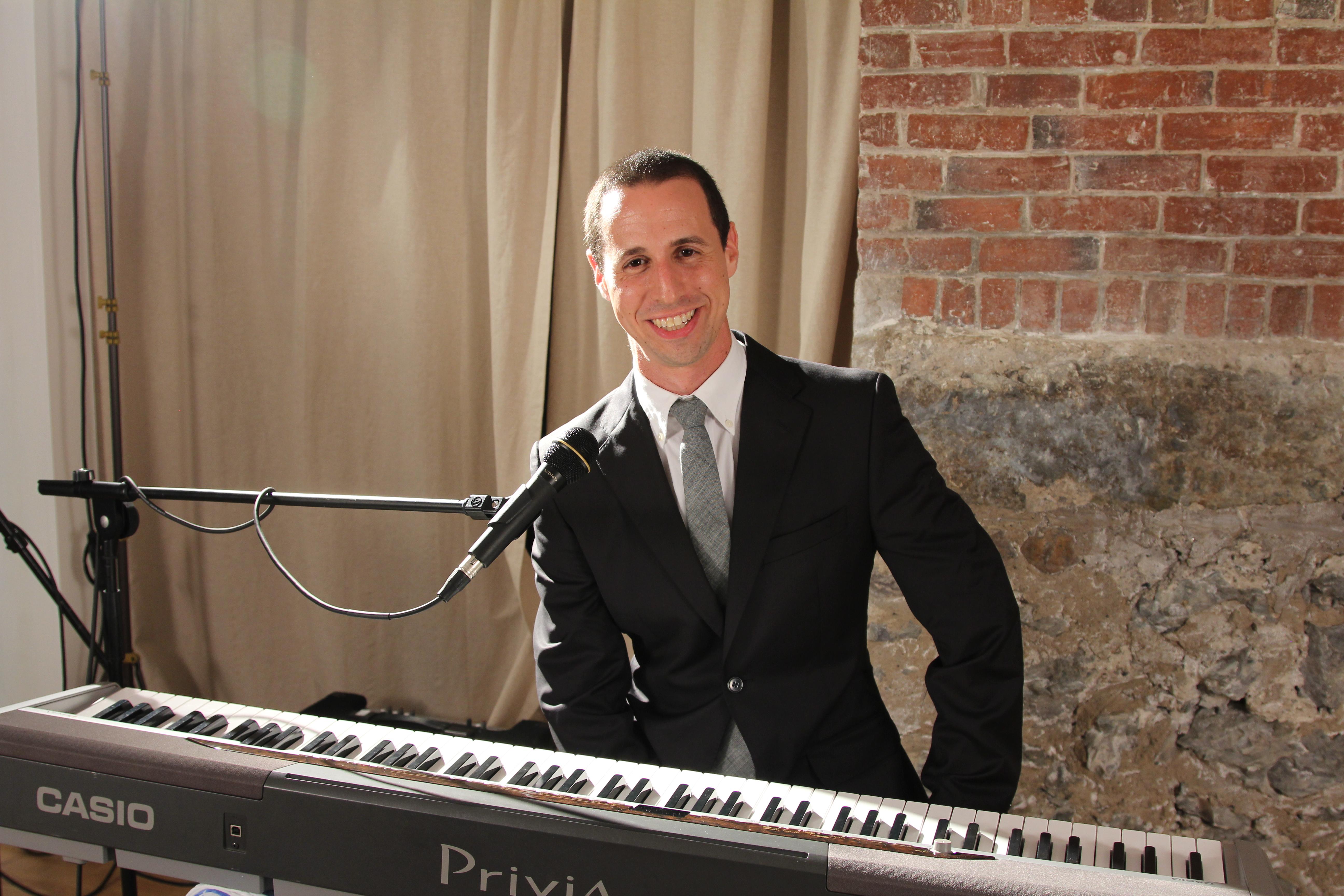 Avi Wisnia Keyboard Headshot Boston MA Seth Kroll Photography Promo Photo Portrait