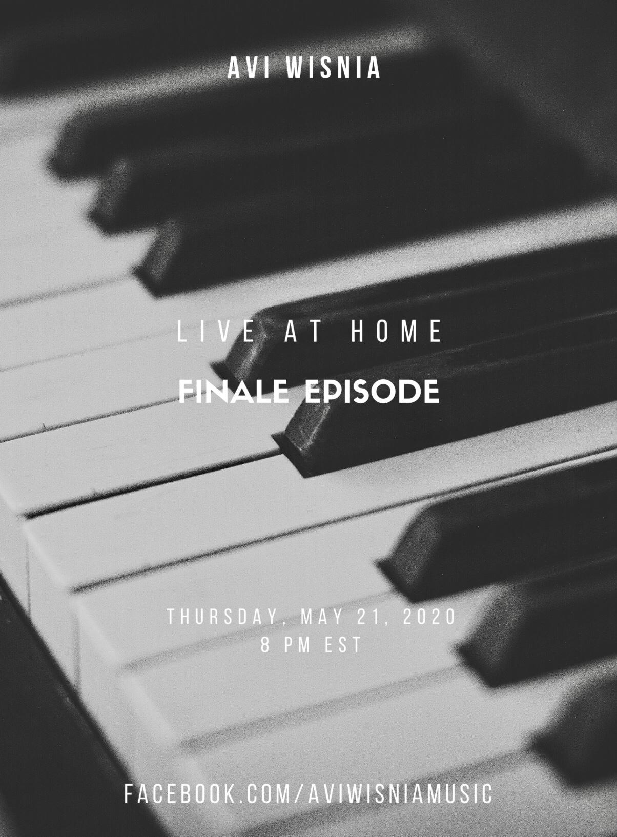 Avi Wisnia Live At Home Finale Flyer