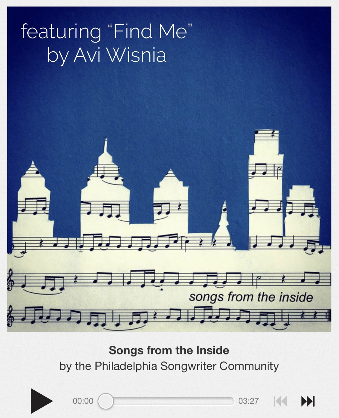 Songs From The Inside feat Find Me Avi Wisnia May2020