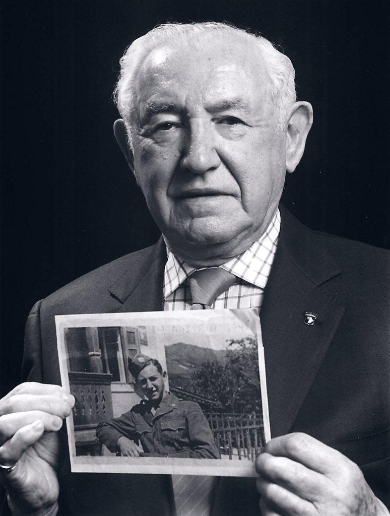 David Wisnia portrait holding army Little Davey portrait BW (full)