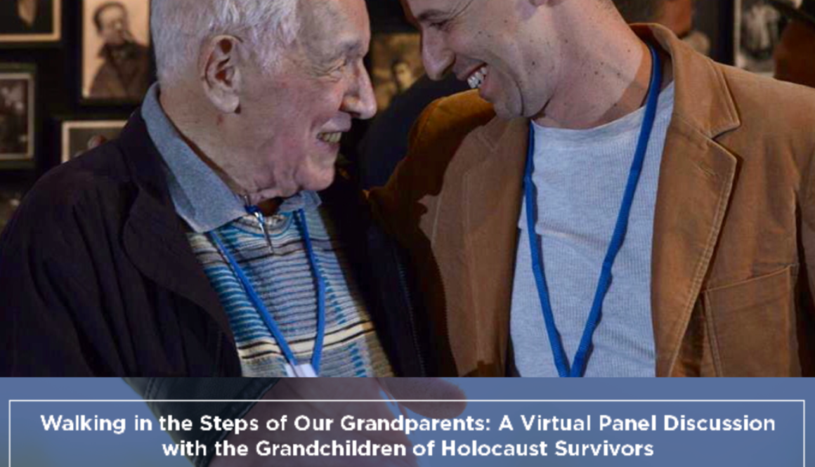 Avi and David Walking in the steps of our Grandparents Holocast Grandchildren Virtual Event Oct2021 image